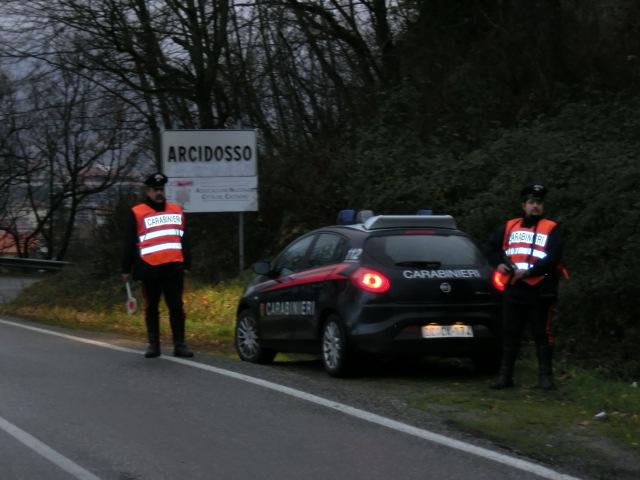 Controlli ad Arcidosso, carabinieri in assetto rinforzato