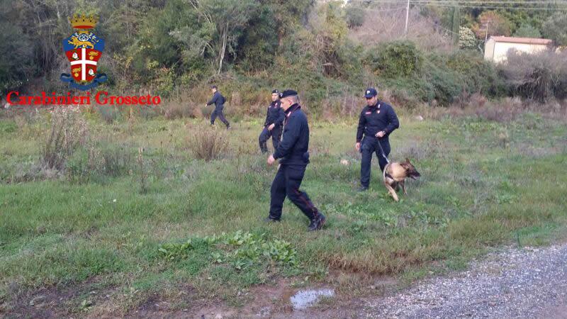 Omicidio Benetti: si cerca il corpo nelle campagne intorno a Gavorrano. Impiegati anche i cani molecolari