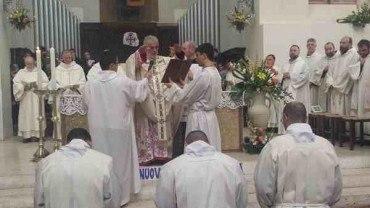 Il Vescovo Rodolfo ha ordinato diaconi tre frati minori della Toscana
