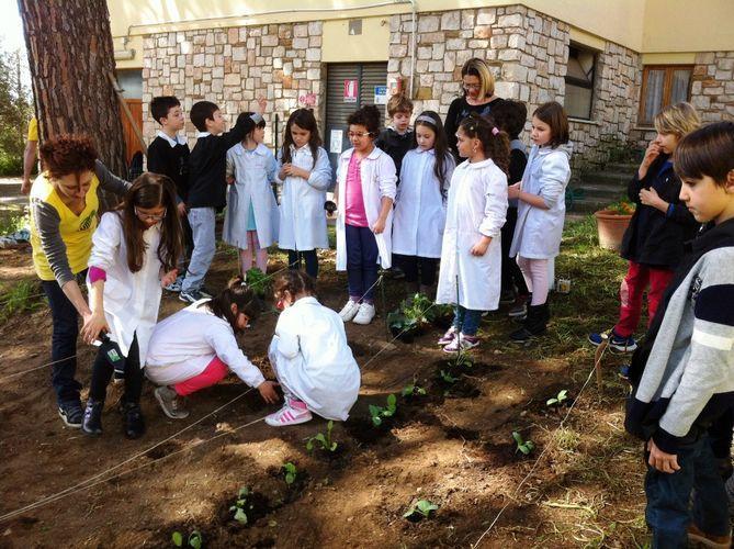 Gli studenti di Istia imparano a fare l'orto