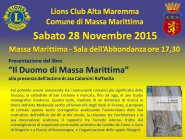 Presentazione del primo studio monografico completo sul Duomo di Massa Marittima