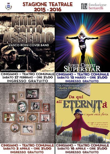 La cover band di Vasco Rossi apre la stagione teatrale di Cinigiano