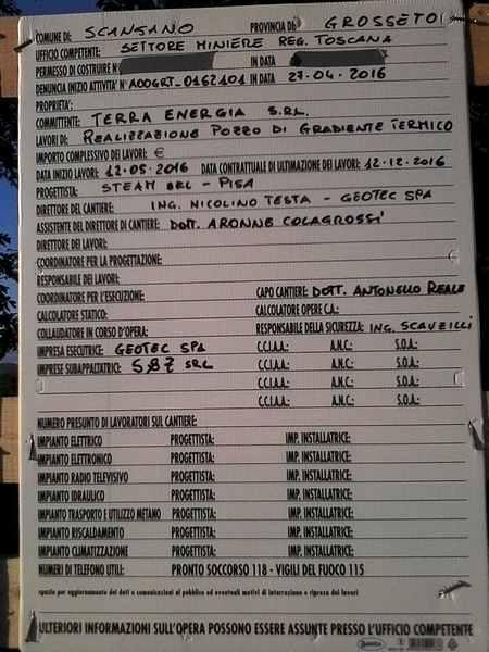 """Photo of Scansano: il comitato lancia una raccolta firme per dire """"No"""" alla geotermia"""