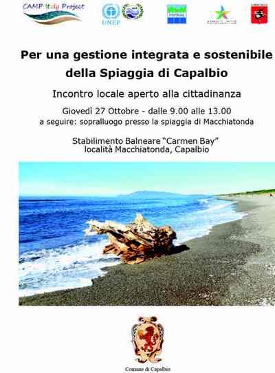 La gestione sostenibile della spiaggia di Capalbio al centro di un incontro