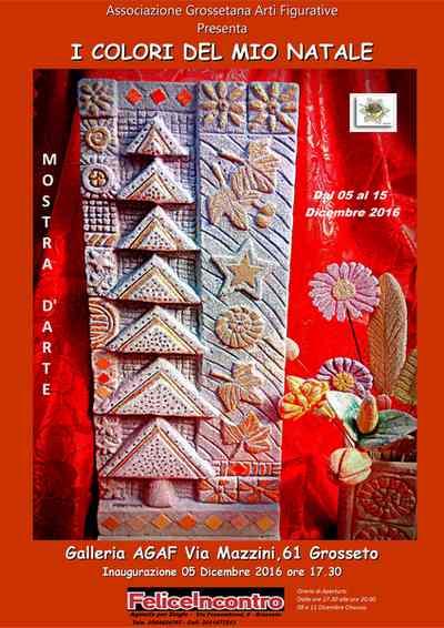 """""""I colori del mio Natale"""": oltre 50 opere sulle festività in mostra alla galleria Agaf"""