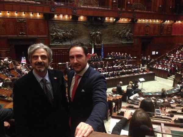 Gino Tornusciuolo a Montecitorio per commemorare le vittime delle foibe
