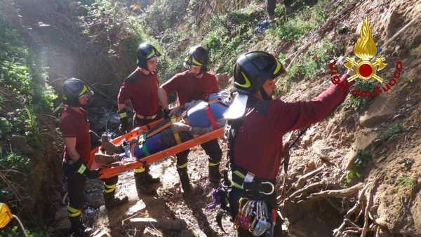 Cade in un fosso con il trattore: ferito un taglialegna – FOTO