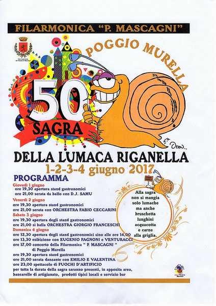 Musica dal vivo e piatti tipici: torna la Sagra della lumaca riganella a Poggio Murella