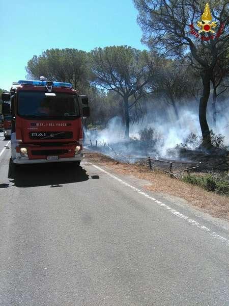 Incendio a Fiumara: fermato in tempo dai vigili del fuoco