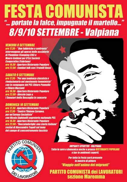 Torna la Festa comunista a Valpiana: il programma dell'iniziativa