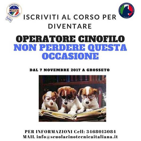 Photo of Scuola Cinotecnica Italiana e Csen lanciano il nuovo corso per diventare educatore cinofilo