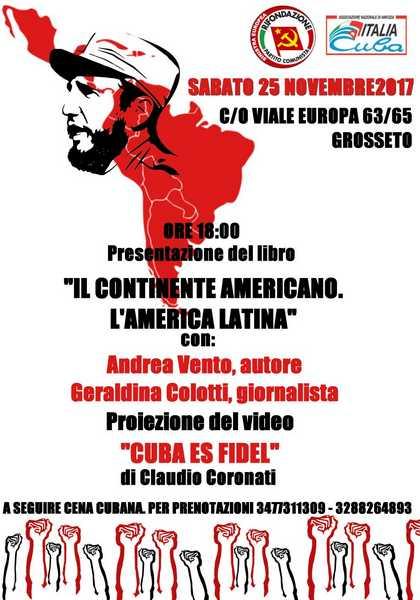 Rifondazione Comunista ricorda Fidel Castro ad un anno dalla morte: il programma delle iniziative