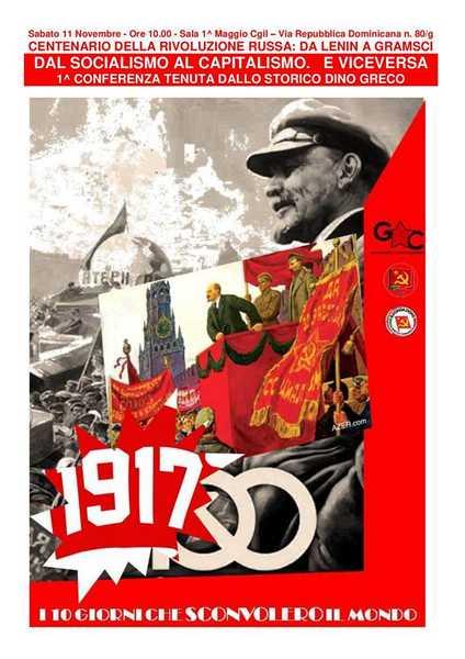 """""""La Rivoluzione russa da Lenin a Gramsci"""": se ne parla in un seminario"""