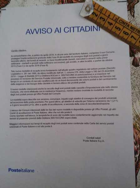 """Posta a singhiozzo, Bellumori scrive ai parlamentari: """"Intervengano per tutelare i territori"""""""
