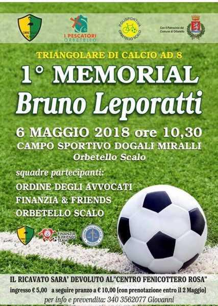 Un torneo di calcio in ricordo dell'avvocato Bruno Leporatti: il ricavato sarà destinato al Fenicottero Rosa