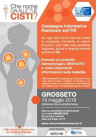 A Grosseto visite gratuite per chi soffre di cisti, noduli e lesioni dolorose