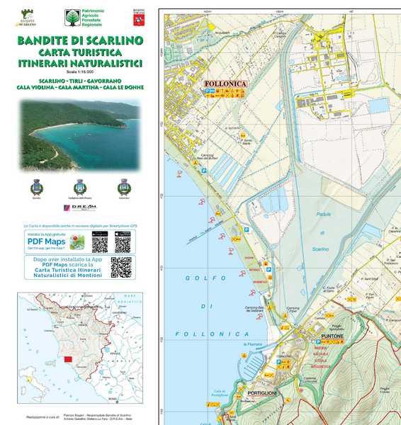 Bandite di Scarlino: aggiornata la cartina, disponibile anche in formato digitale