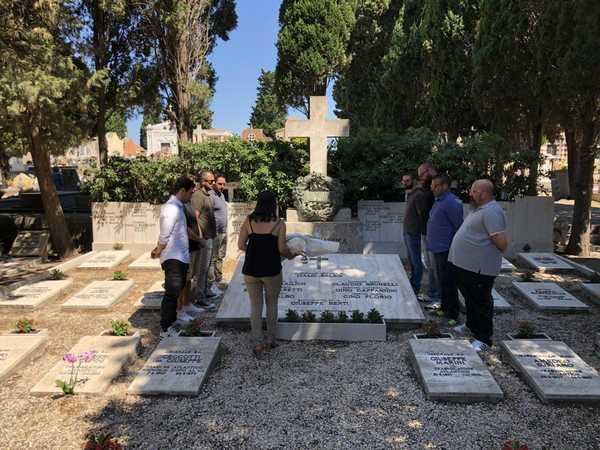 CasaPound rende omaggio a Italo Balbo: cerimonia al cimitero