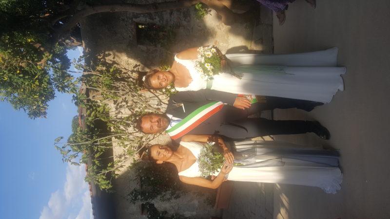 Fiamma e Valentina hanno detto sì: celebrata la prima unione civile a Capalbio