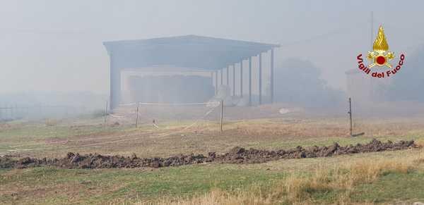 Photo of Sterpaglie e bosco in fiamme: l'incendio minaccia capannoni e stalle