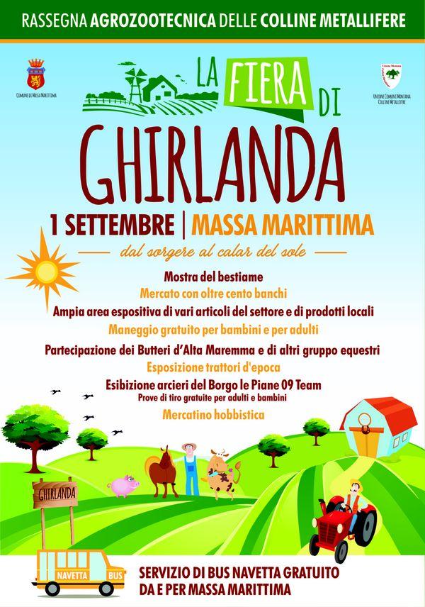 Il primo settembre torna la Fiera di Ghirlanda. Bus gratuito da Massa Marittima