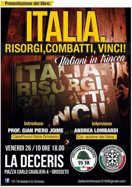"""Photo of """"Italia risorgi, combatti, vinci"""": CasaPound presenta il libro sulla prima guerra mondiale"""