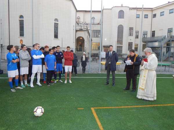 Un nuovo campo polivalente per il seminario: inaugurato e benedetto dal vescovo