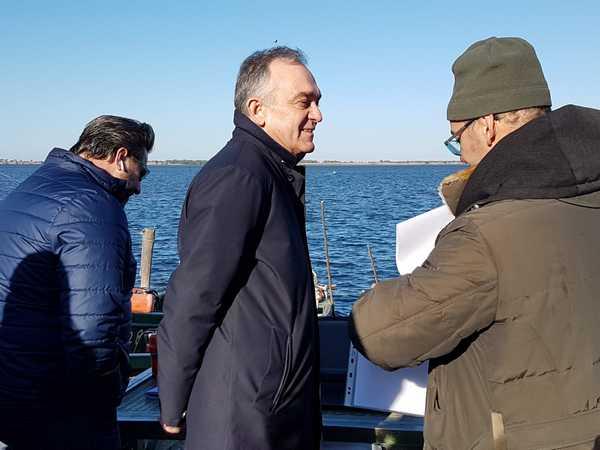 """Photo of Rossi ad Orbetello: """"Al via i lavori sugli argini dell'Albegna. E proroga dell'accordo sulla laguna"""""""