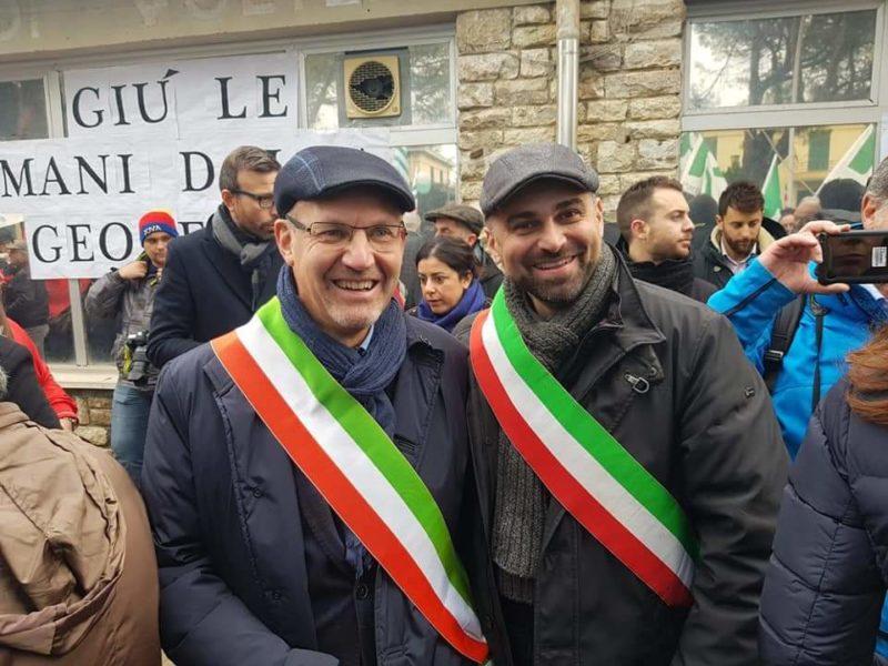 """""""Geotermia sì"""": anche il sindaco Marcello Giuntini presente alla manifestazione"""