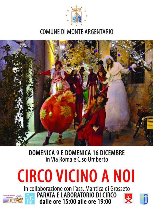 Il Circo vicino a noi per Natale a Porto Santo Stefano