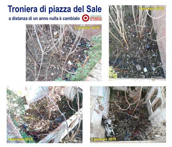 """Mura medicee, Grosseto al Centro: """"Chi deve pulire la troniera di piazza del Sale?"""""""