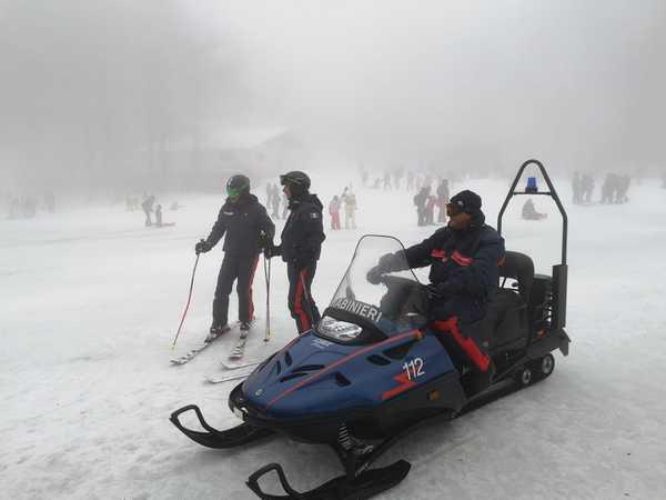 Monte Amiata: sulle piste vigilano i Carabinieri sciatori