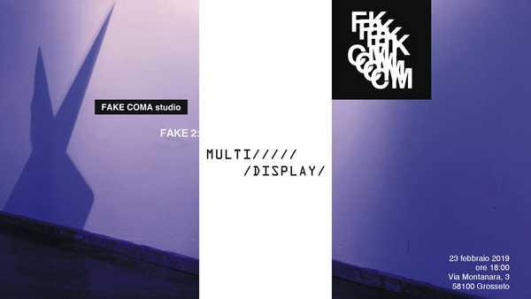 """""""Multidisplay"""": l'estetica delle nuove tecnologie in mostra al Fake Coma Studio"""