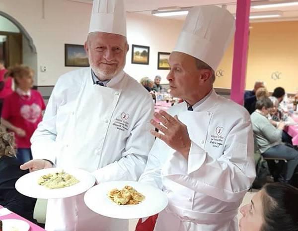 Cooking show targato Insieme in Rosa: i tortelli di zucca hanno la meglio sui maremmani