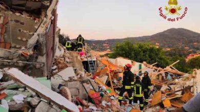 Photo of Crollo palazzina all'Isola d'Elba, sul posto anche i Vigili del Fuoco di Follonica