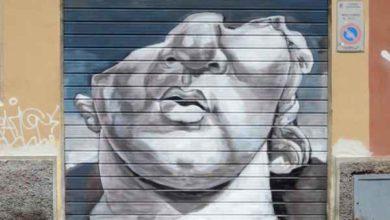 """Photo of """"Trame Festival"""": le saracinesche dei negozi chiusi in centro diventano opere d'arte"""
