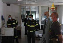 Photo of Il Prefetto Fabio Marsilio in visita alle sale operative dei Vigili del Fuoco maremmani